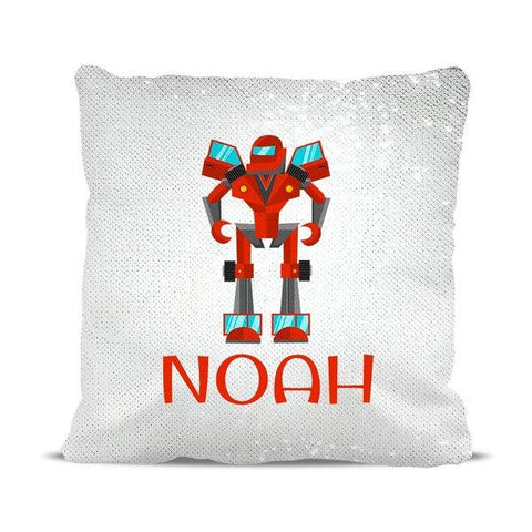 Robot Reversible Sequin Cushion Cover