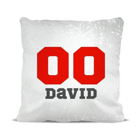 Sports Numbers Reversible Sequin Cushion Cover