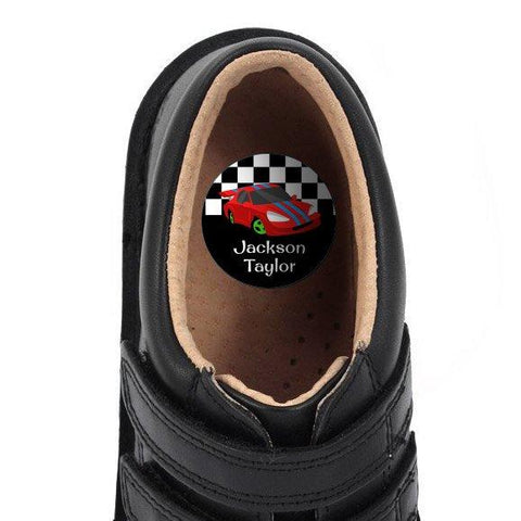 Race Cars Shoe Dots 18pk
