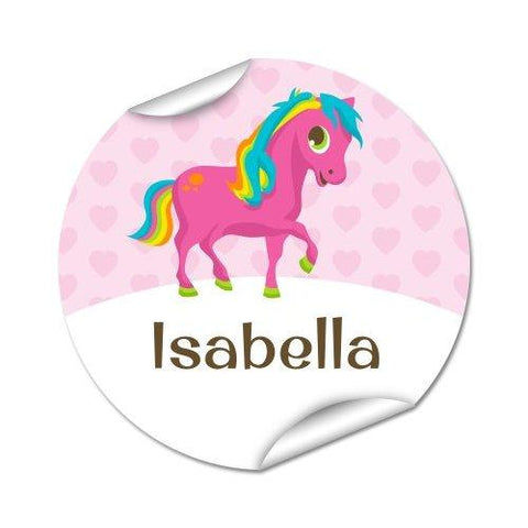 Pony Round Labels 45pk