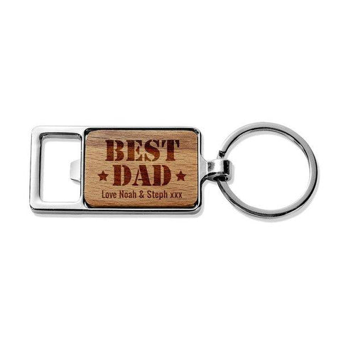 Best Dad Rectangle Metal Keyring