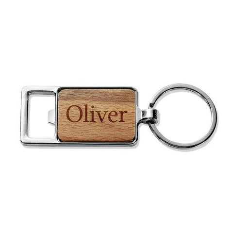 Classic Name Rectangle Metal Keyring