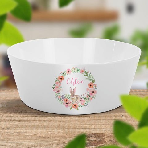 Bunny Wreath Kids Bowl