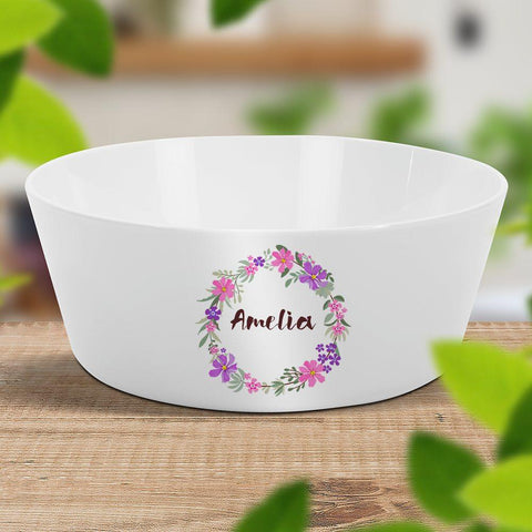 Flower Wreath Kids Bowl