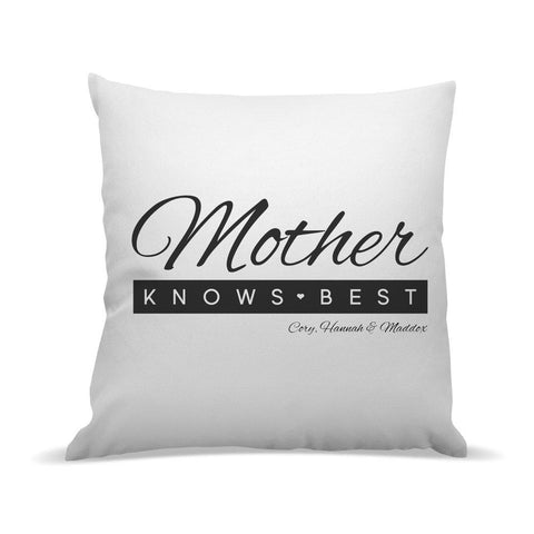 Mother Knows Best Premium Cushion Cover