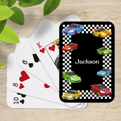 Race Cars Playing Cards