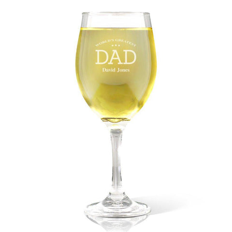 Greatest Dad Wine Glass