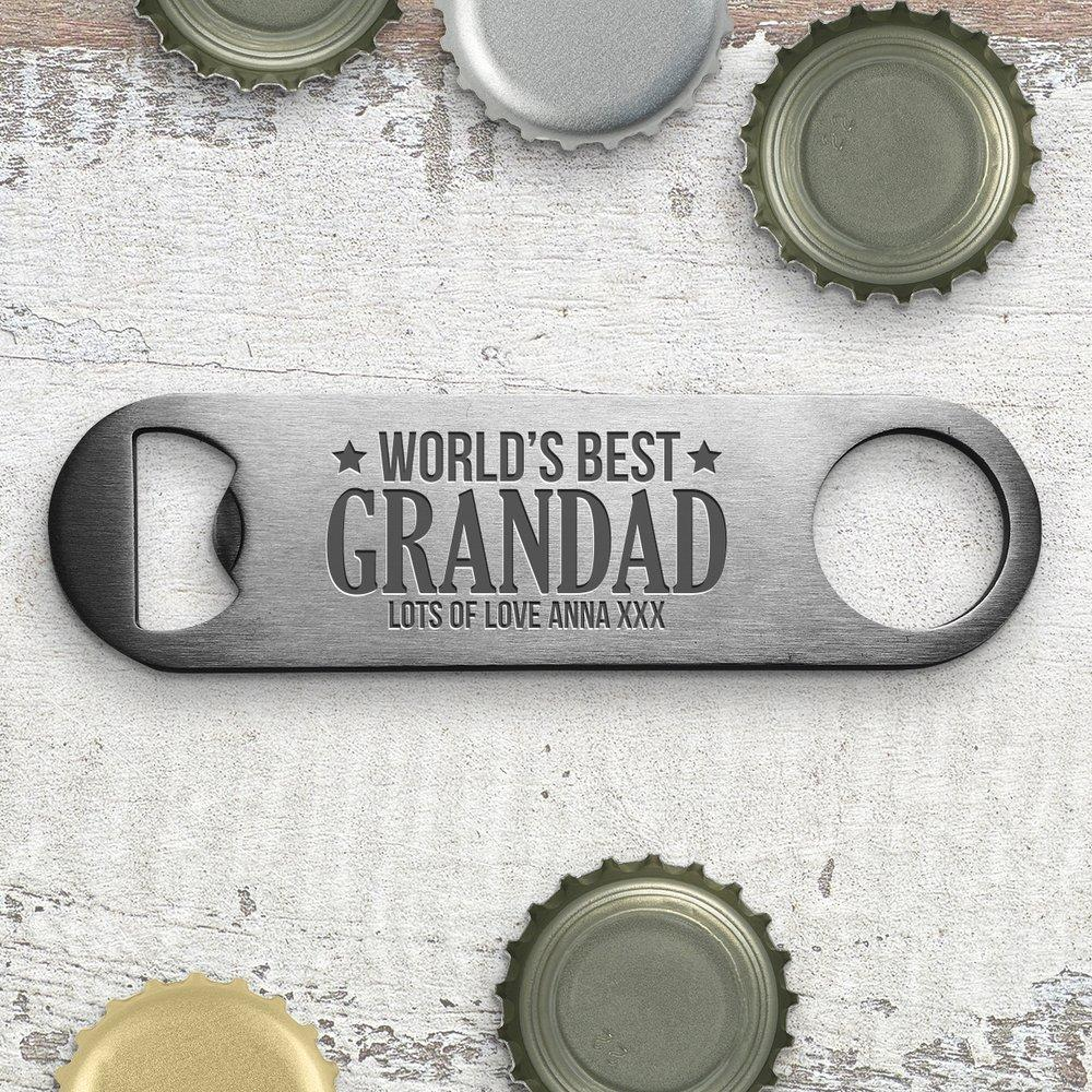 Best Grandad Engraved Bottle Opener