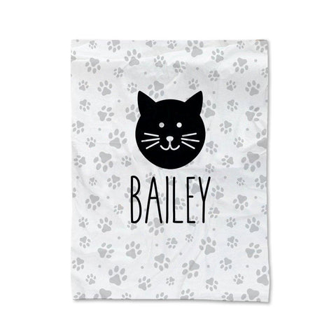 Paw Prints - Cat Pet Blanket - Large (Temporary Out of Stock)