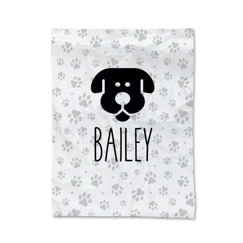 Paw Prints - Dog Pet Blanket - Medium