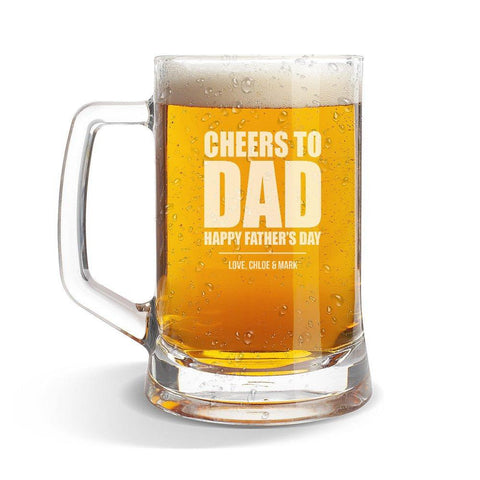 Cheers To Glass Beer Mug