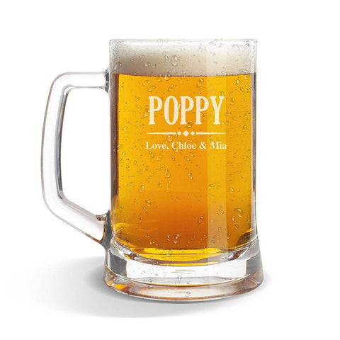 Poppy Glass Beer Mug