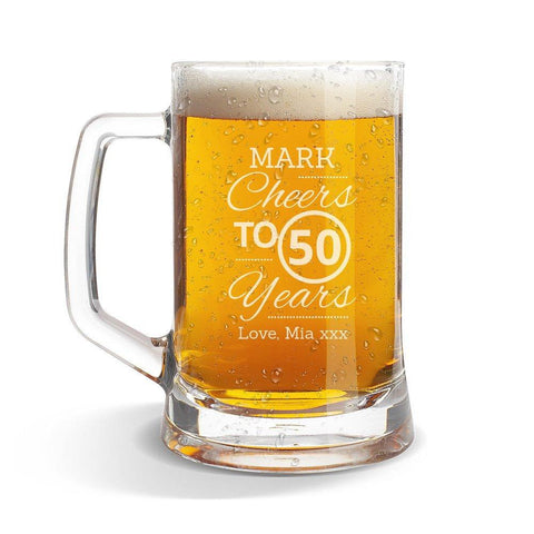 Cheers Glass Beer Mug