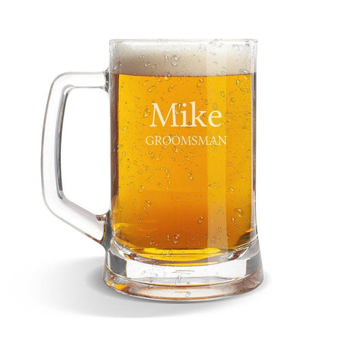 Mike Glass Beer Mug