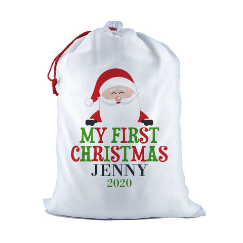 My First White Santa Sack