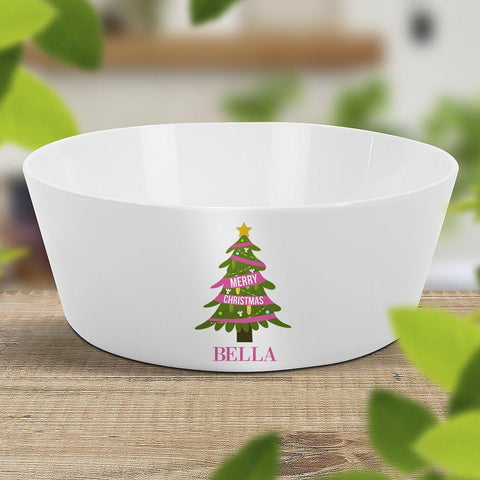 Pink Christmas Kids' Bowl