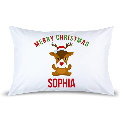 Cute Reindeer Pillow Case