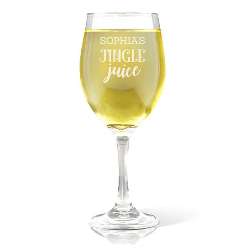 Jingle Juice Wine Glass