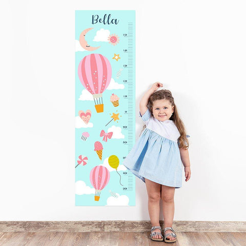 Balloons Wall Decal Height Chart