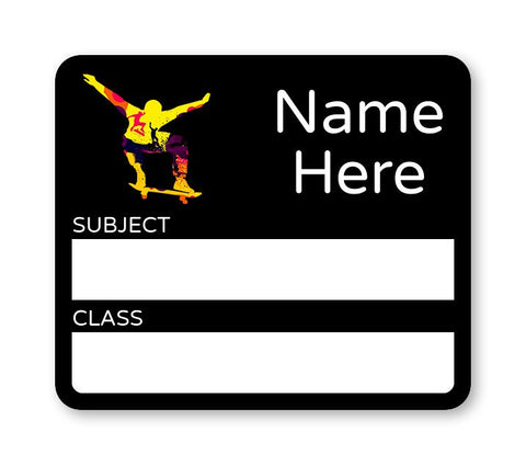 Skater School Book Label