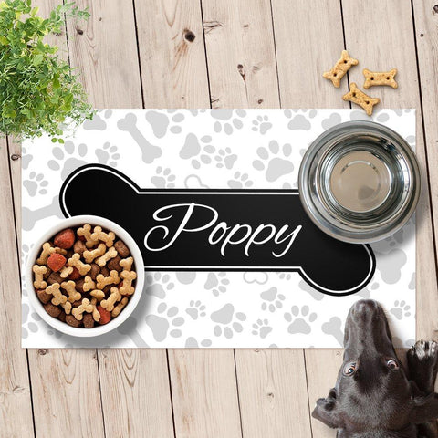 Bone Pet Feeding Mat