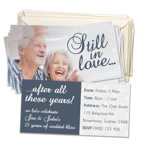 "4 x 8"" Double Sided Invitation Card (20 pack)"