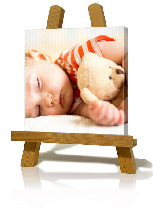 "6x6"" (15 x 15cm) Slim Canvas Print With Easel"