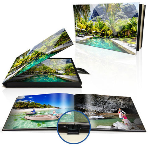 "8 x 11"" Premium Layflat Photo Book (Landscape) with box"