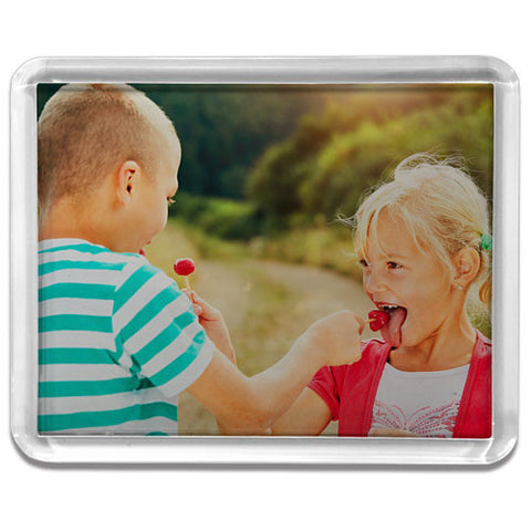 Large Rectangle Clear Frame Fridge Magnet