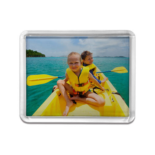 Small Rectangle Clear Frame Fridge Magnet