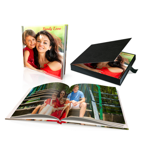 "12 x 12"" Premium Personalised Padded Cover Book in Presentation Box"