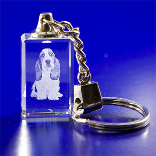 2D Crystal Portraits Key Chain
