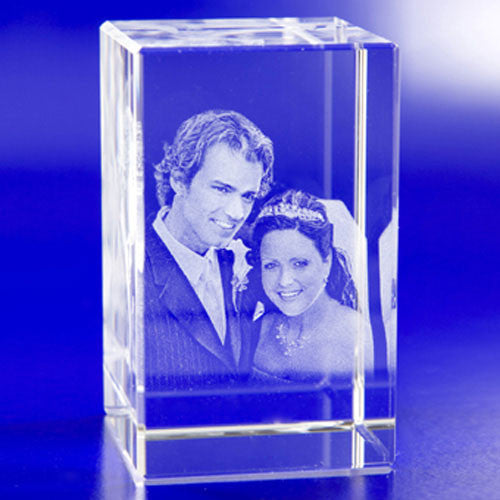 3D Crystal Portraits Rectangle Tower (2 person)