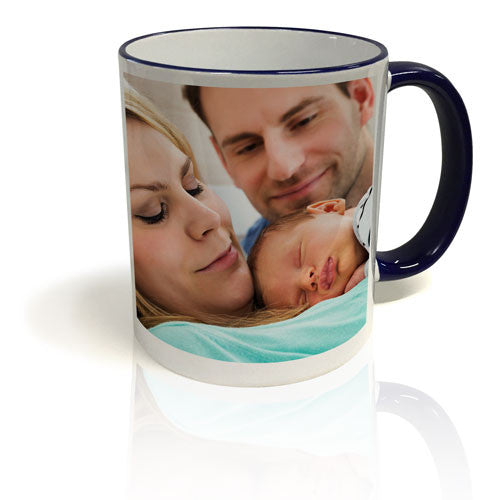 Colour Trim Mug - Blue & White