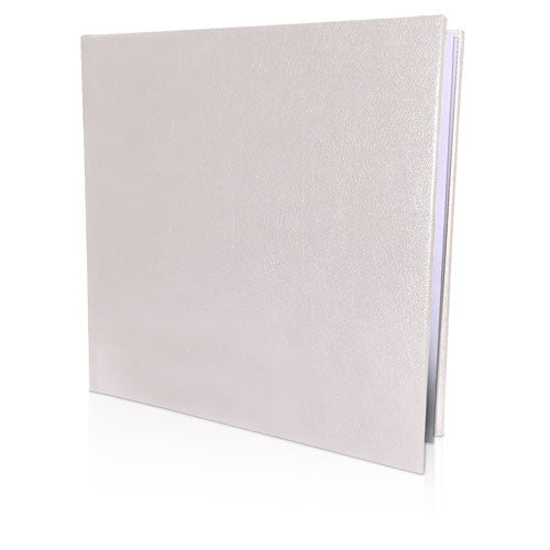 "12 x 12"" Leather Look Padded Hard Cover Book"
