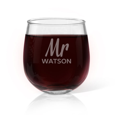 Mr Design Stemless Wine Glass