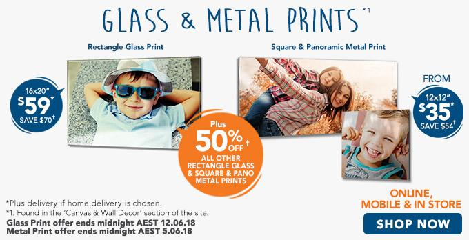 Home Glass & Metal Prints offer - ends 27.02.18