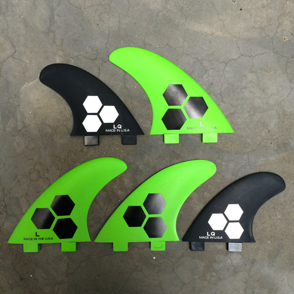 Channel Islands 5 fins FRP  Green/black  Large