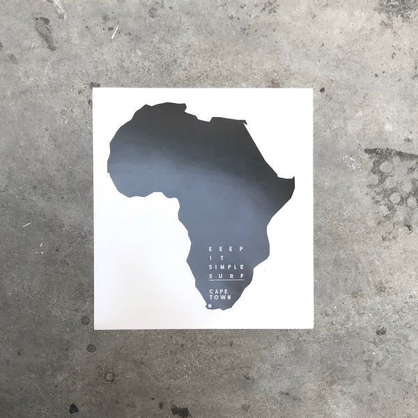 AFRICA STICKER  -  BLACK