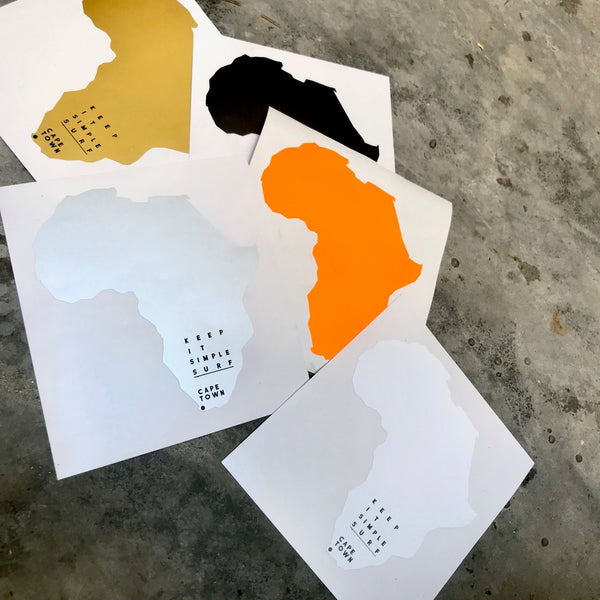 AFRICA STICKER  -  GOLD