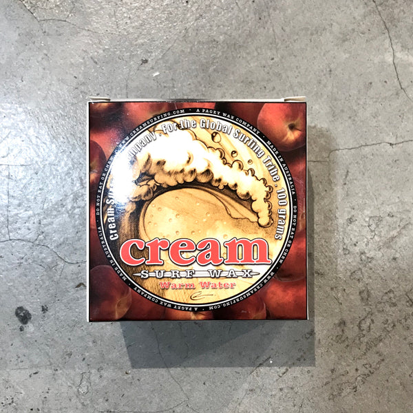 CREAM   SURF WAX  WARM WATER