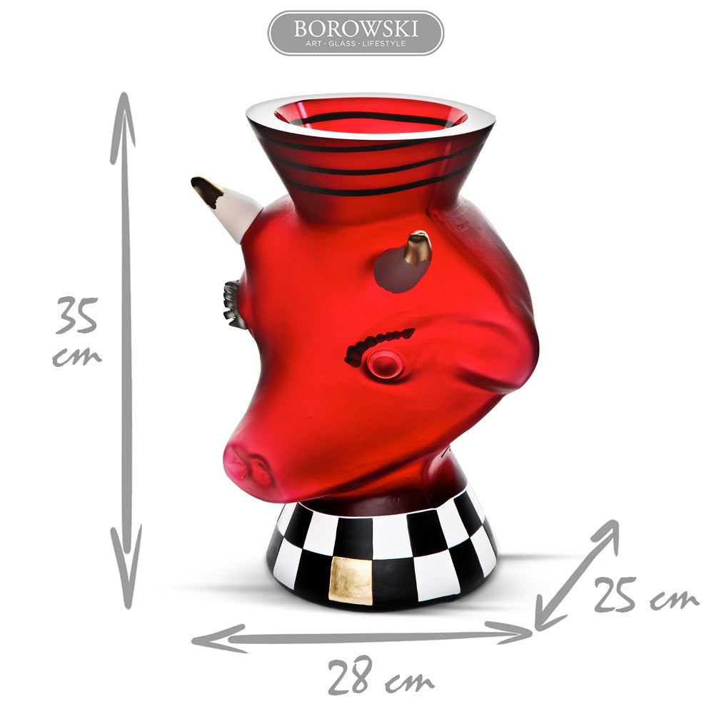 "ANIMALIA ""RED NECK"" - Vase, Vase, [Borowski Art Glass in Asia]"