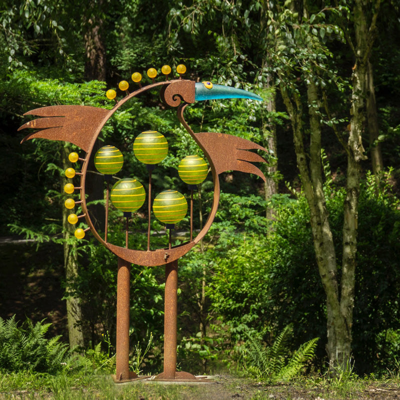 LUCKY BIRD - Outdoor object, Outdoor sculpture, [Borowski Art Glass in Asia]