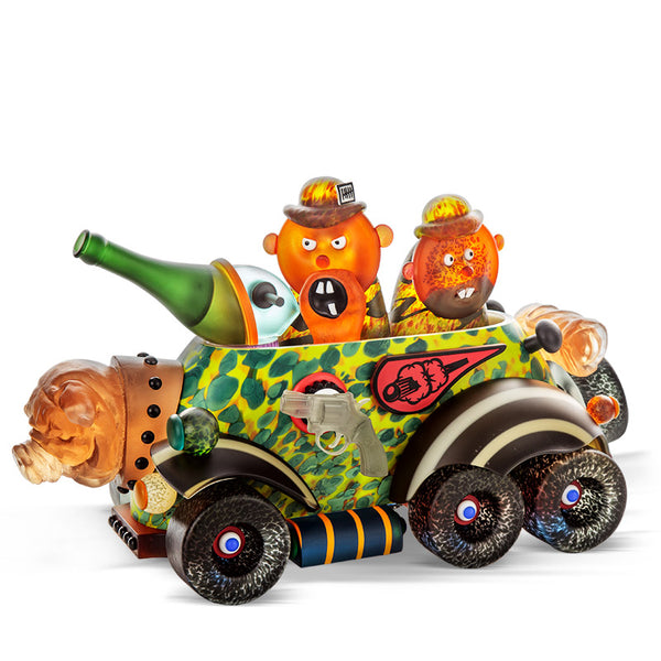 MILITARY VEHICLE - Masterwork by SJB, Masterpiece, [Borowski Art Glass in Asia]
