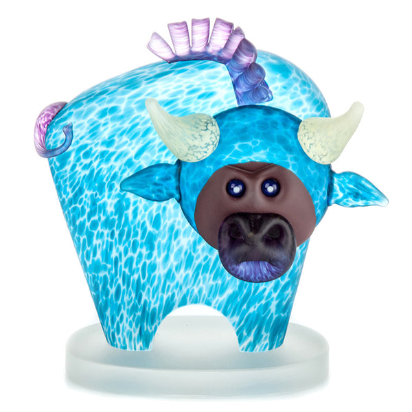 BULL - Object by SJB, Art sculpture, [Borowski Art Glass in Asia]