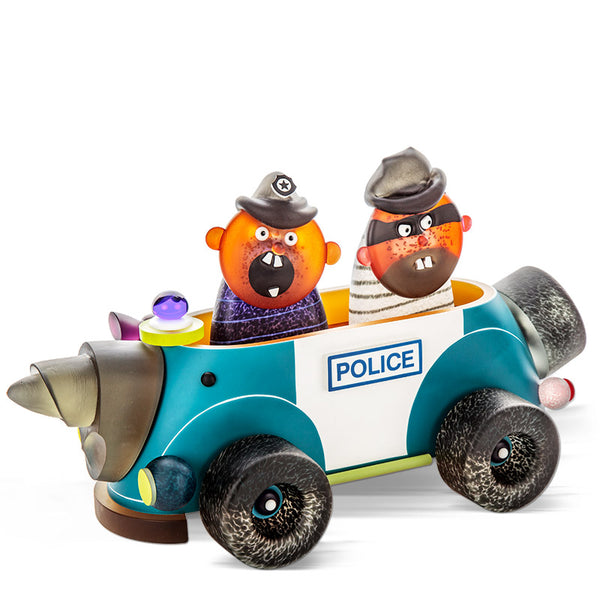 GREAT POLICE VEHICLE - Masterwork by SJB, Masterpiece, [Borowski Art Glass in Asia]