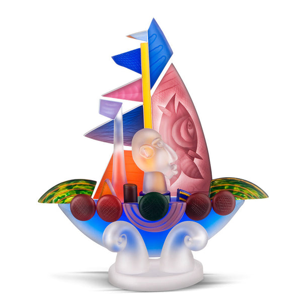 SAILOR - Object by PB, Art sculpture, [Borowski Art Glass in Asia]