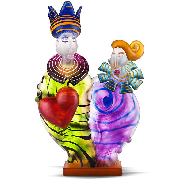 KING & QUEEN - Object by SJB, Art sculpture, [Borowski Art Glass in Asia]