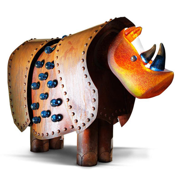 RHINO -  Light object, Illuminated object, [Borowski Art Glass in Asia]