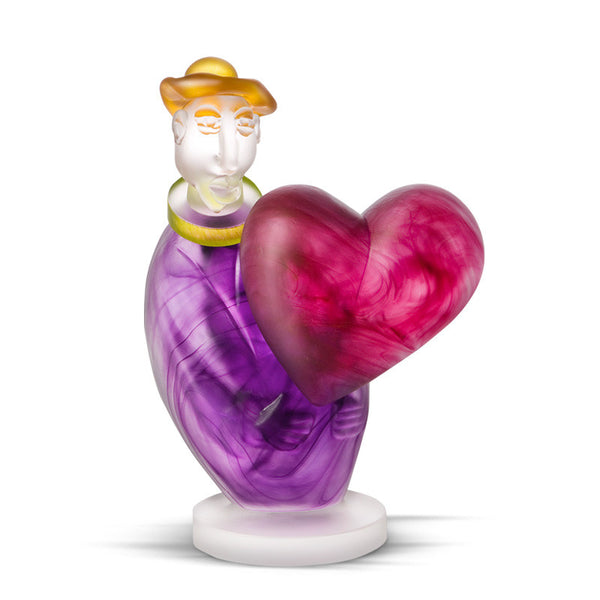 LOVE MESSENGER - Object by SJB, Art sculpture, [Borowski Art Glass in Asia]